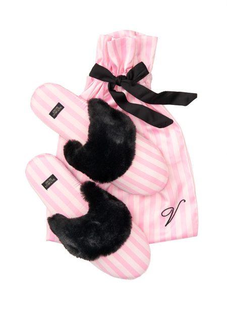 Satinovie tapochki Victoria's Secret rozovaia poloska