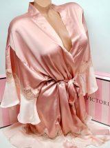 Satinovij halat kimono s kruzhevom rozovij3