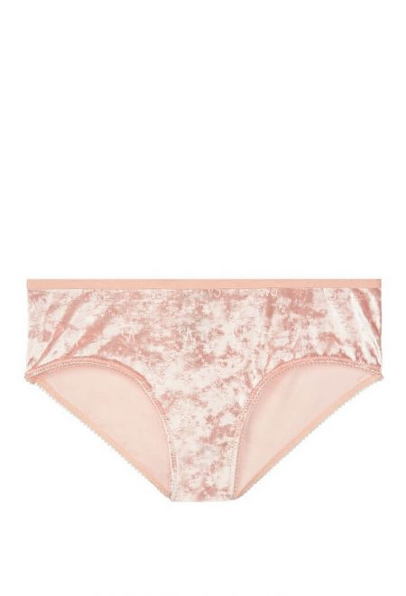 Trusiki bikini serii Cotton persikovie barhatnie