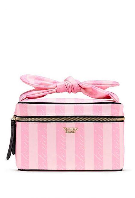 Dorozhnij kejs s kosmetichkoj Victoria's Secret rozovaia poloska