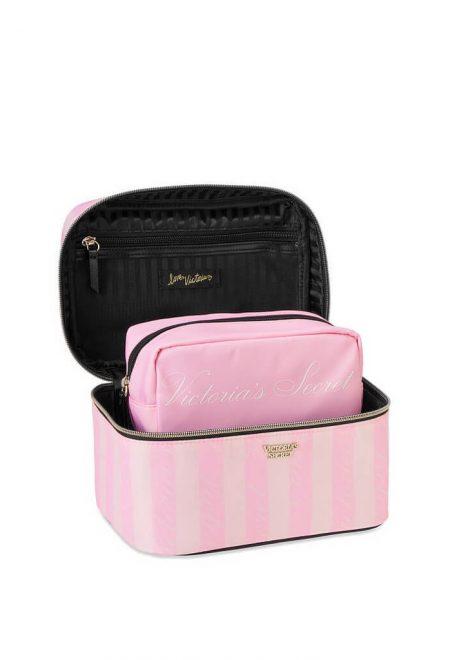 Dorozhnij kejs s kosmetichkoj Victoria's Secret rozovaia poloska1
