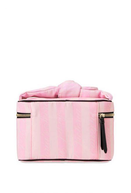 Dorozhnij kejs s kosmetichkoj Victoria's Secret rozovaia poloska2