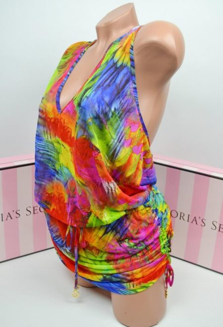 Pliazhnoe platje Luli Fama T-Black Mini Dress Mundo De Colores1