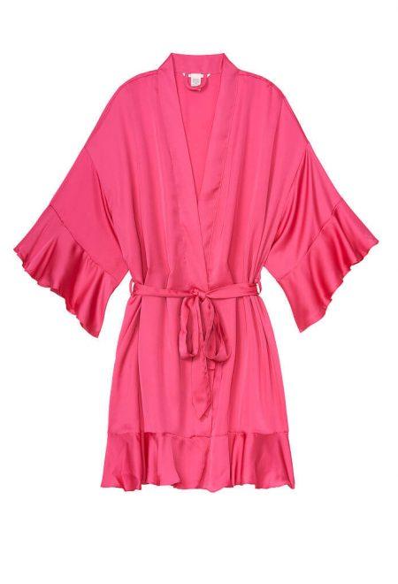 Satinovoe kimono s riushami rose