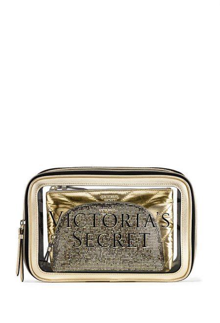 Nabor 3-h kosmetichek Victoria's Secret zolotoi