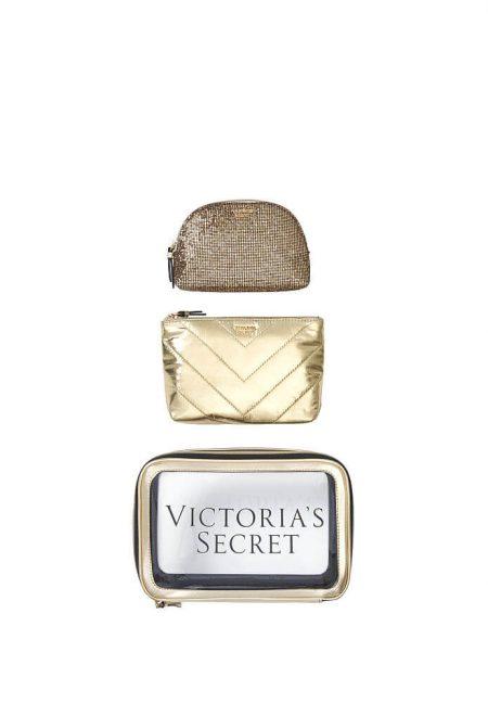Nabor 3-h kosmetichek Victoria's Secret zolotoi2