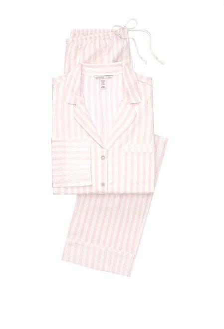 Flanelevaia pizhama Victoria's Secret rubashka i shtani pink white stripe