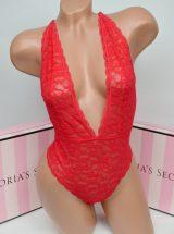 Krasnoe kruzhevnoe bodi Victoria's Secret