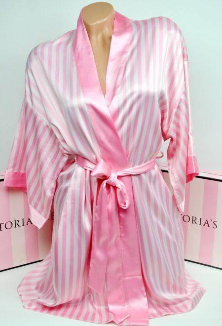 Satinovoe kimono rozovaia poloska