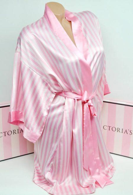Satinovoe kimono rozovaia poloska 1