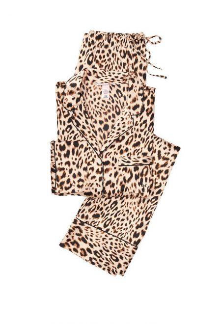 Satinovaia pizhama Afterhours leopard