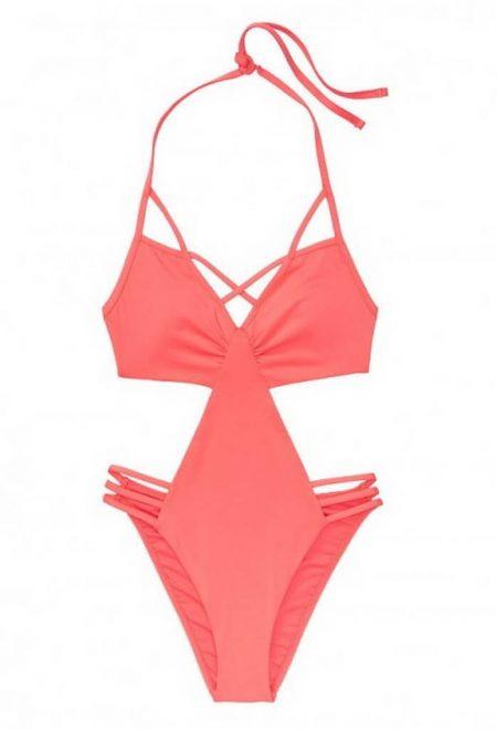 Monokini Strappy Plunge korallovij Victoria's Secret