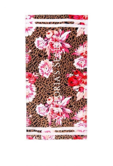 Pliazhnoe polotence Victoria's Secret cvetnoi leopard