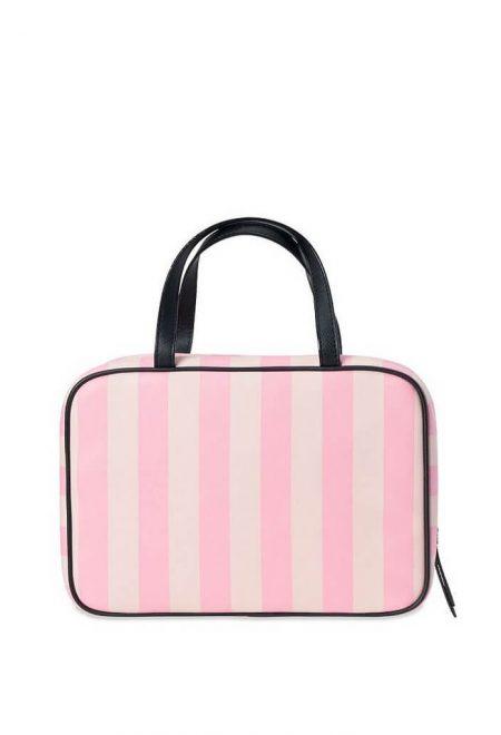 Dorozhnaia kosmetichka Victoria's Secret rozovaia poloska logo1
